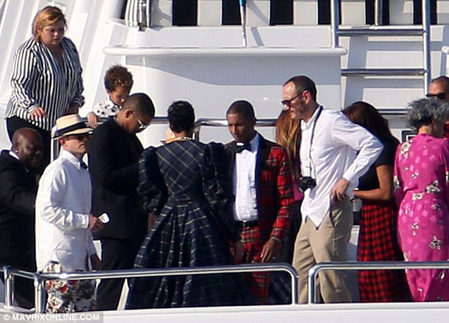 pharrell williams celebrates wedding with friends including terry richardson on board luxury yacht never say never