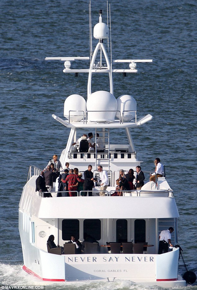 pharrell williams celebrates wedding with family and friends on board luxury yacht never say never