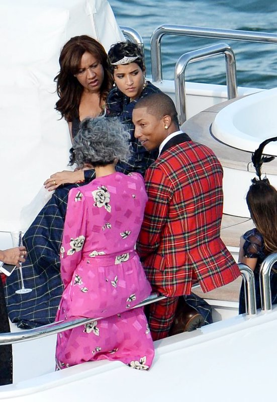 pharrell williams celebrates wedding on board luxury yacht never say never