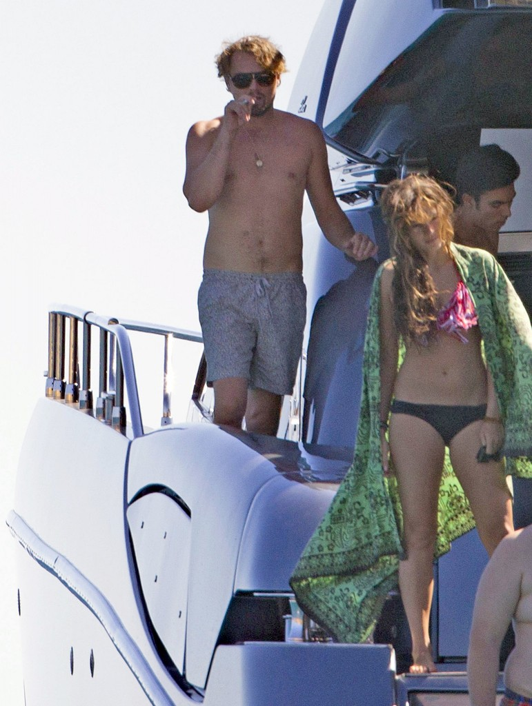 leonardo dicaprio on board luxury yacht in ibiza with friends