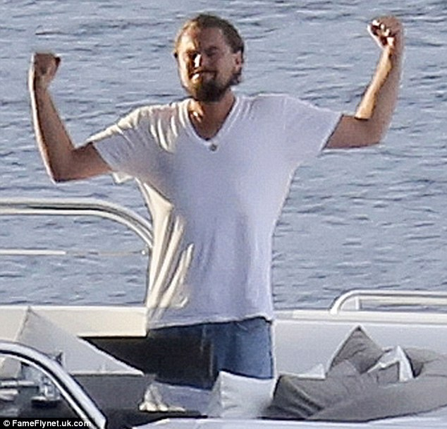 Leonardo dicaprio celebrates karate success on board luxury yacht in the french riviera