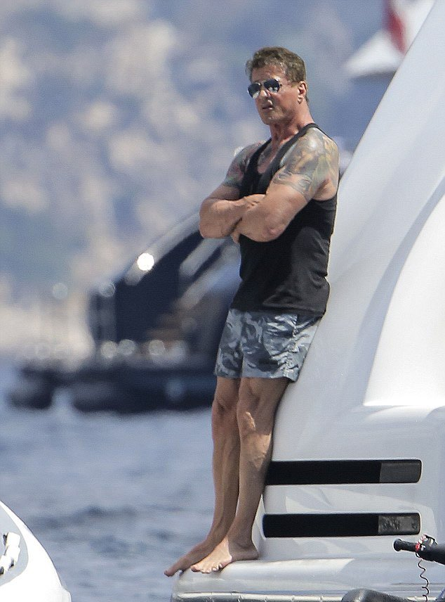 Sylvester Stallone St Tropez 2014 1