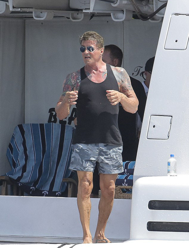 Sylvester Stallone St Tropez 2014 5