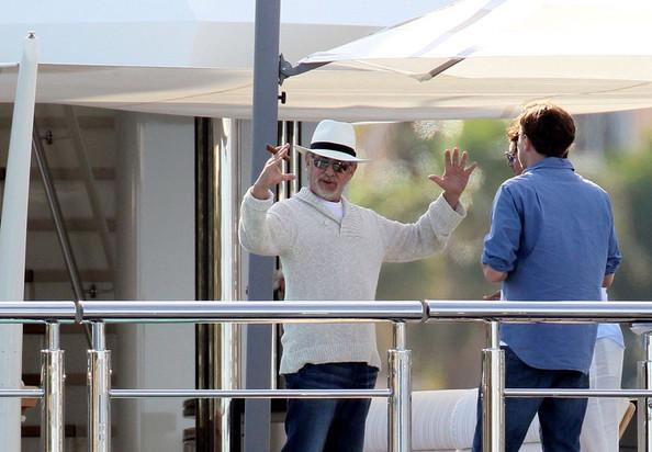 Steven Spielberg invited Leonardo DiCaprio on board his luxury yacht Seven Seas in the french riviera
