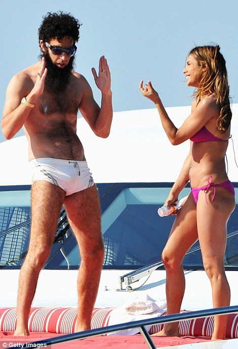 Sacha Baron Cohen Causes a Scene on Luxury Yacht in Cannes as 'The Dictator'