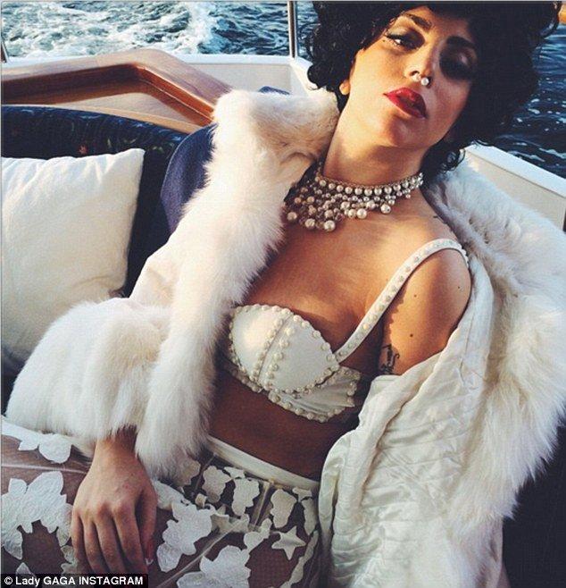 lady gaga on board luxury yacht Merceditas in sweden