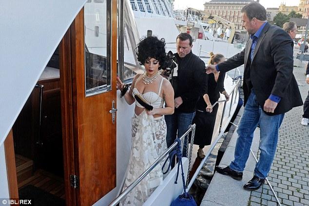 lady gaga on board luxury yacht Merceditas in sweden with dog asia