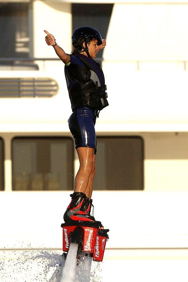 michelle rodriquez flyboarding