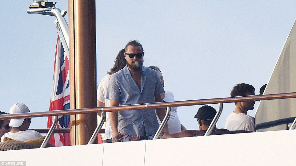 Leo on board superyacht Paraffin