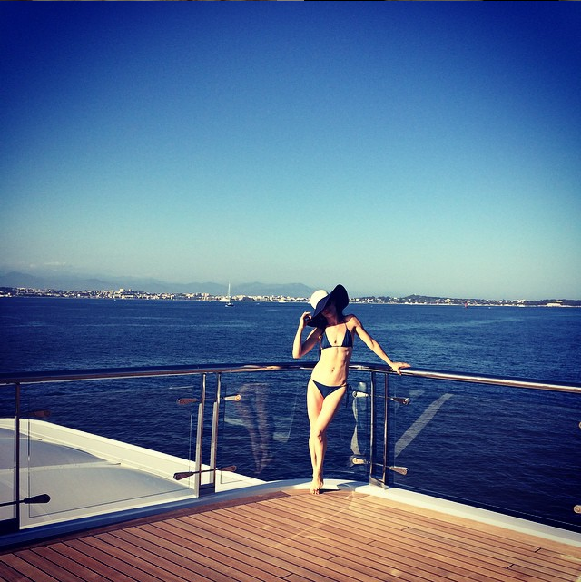 juliette lewis on board superyacht rising sun