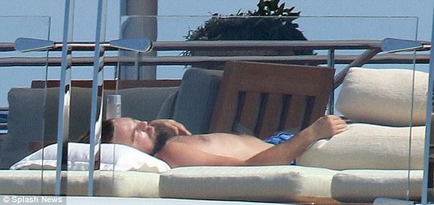 Leonardo DiCaprio on board superyacht rising sun