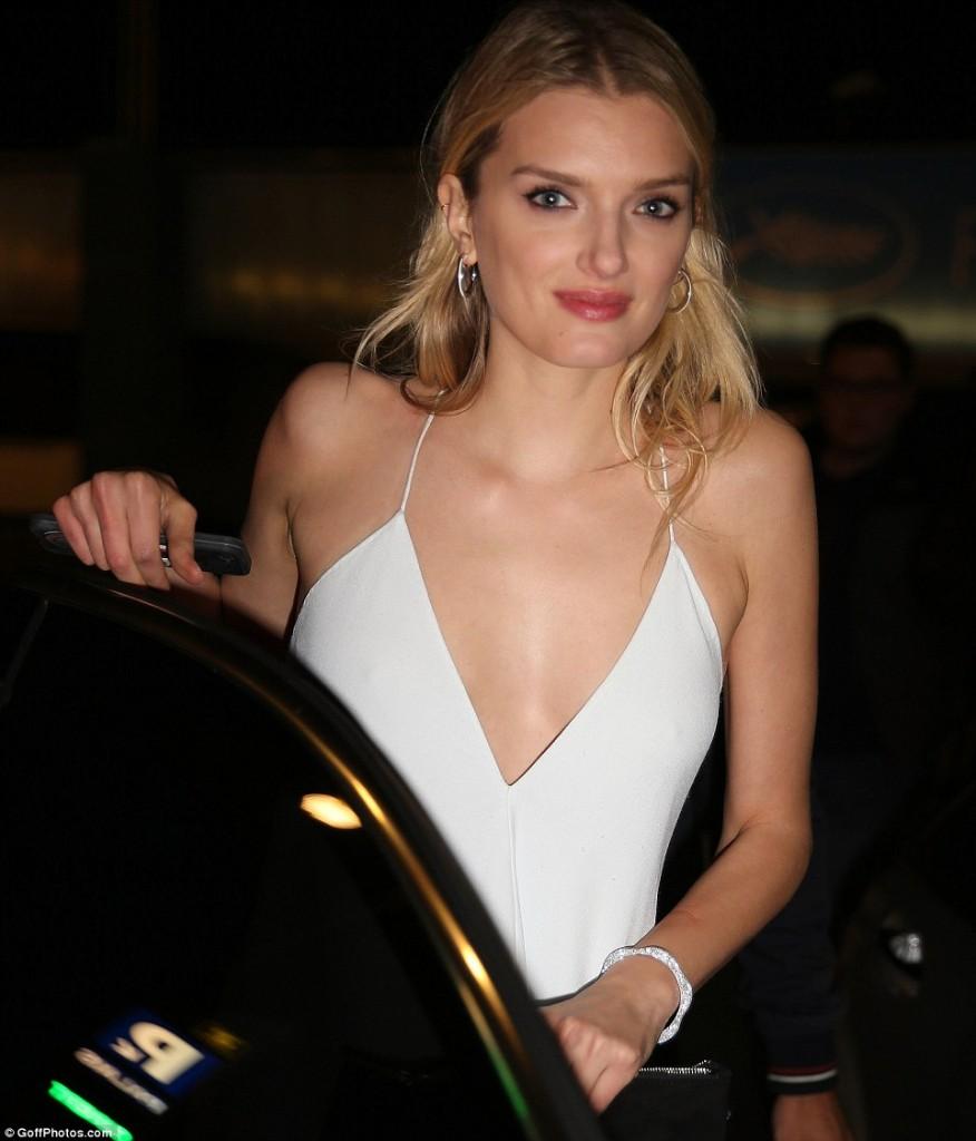 Lily Donaldson at Paul Allen's Cannes party