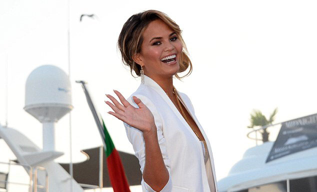 Chrissy Teigen aboard superyacht Idol