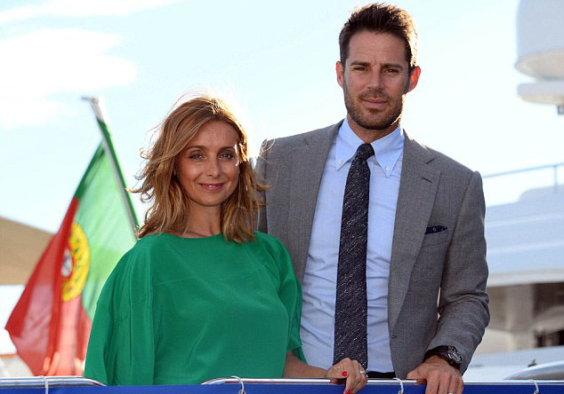 Jamie and Louise Redknapp aboard superyacht Idol