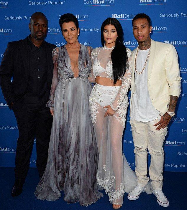 Kris Jenner, Kylie Jenner and Tyga