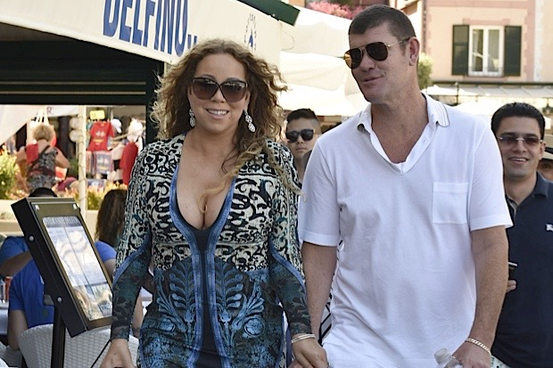Mariah and James taking a break from the yacht