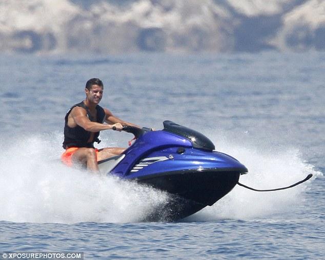 Cristiano Ronaldo on jetski from Lionchase