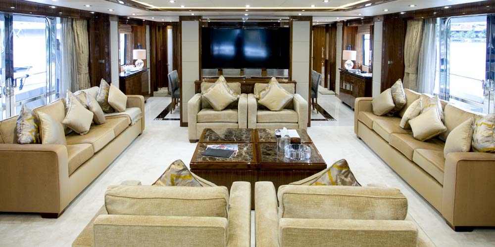 superyacht 'princess k''s salon