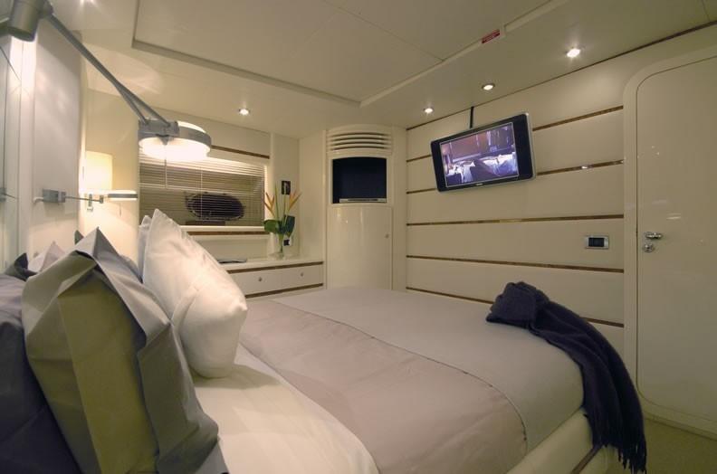 superyacht diversion's master suite