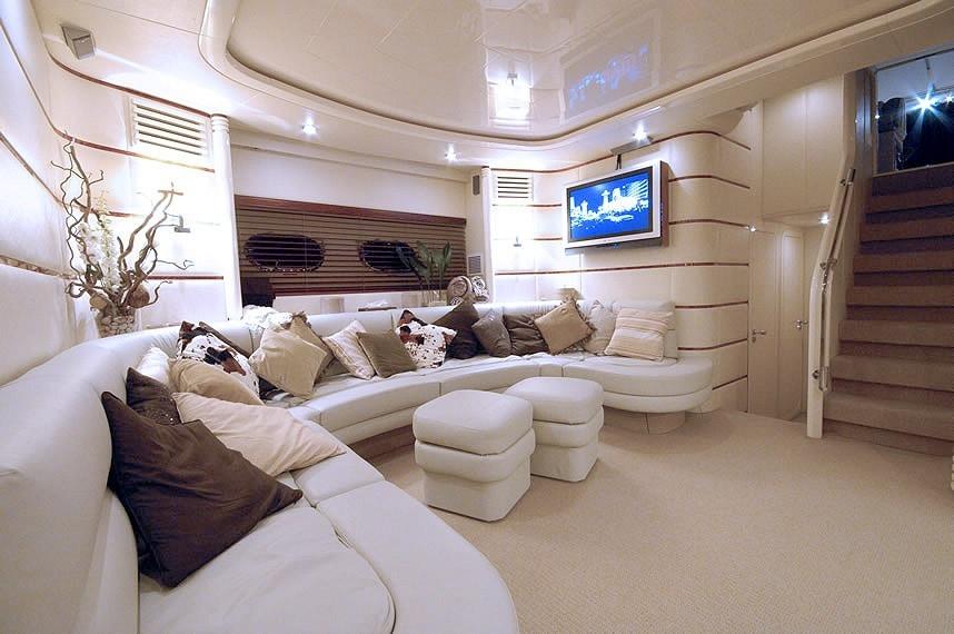 superyacht diversion's main salon