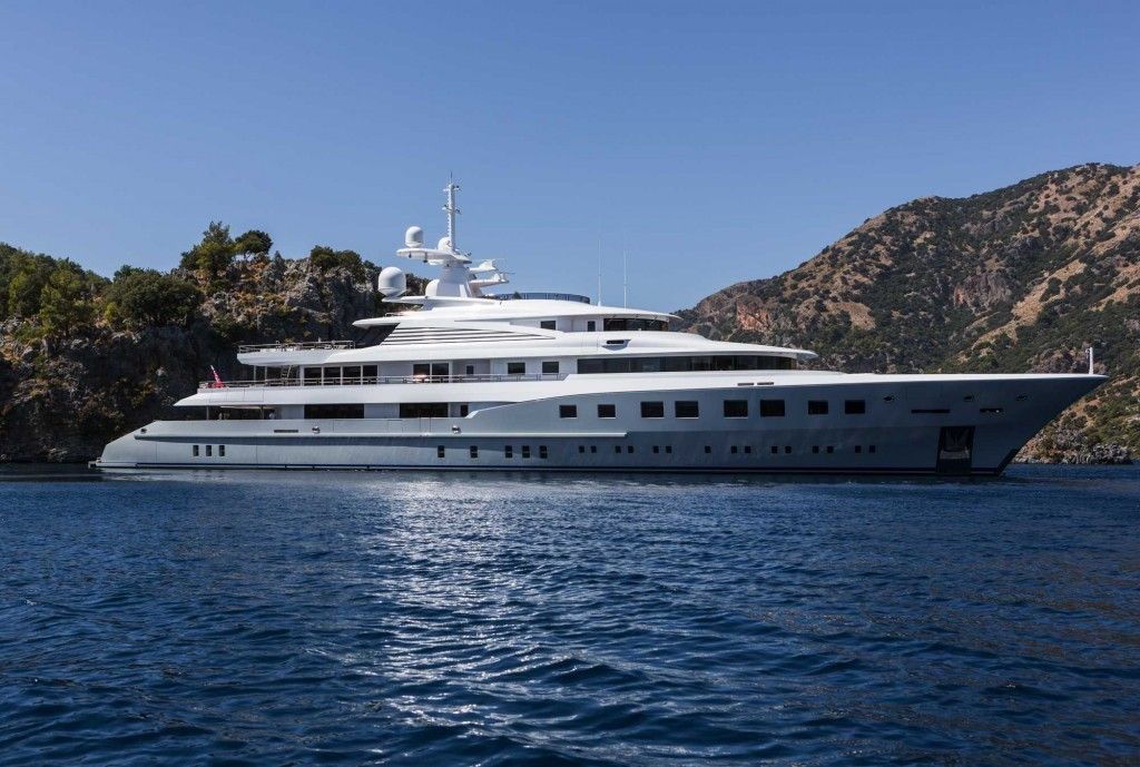 superyacht axioma rented by kendall jenner, hadids and hailey baldwin in monaco