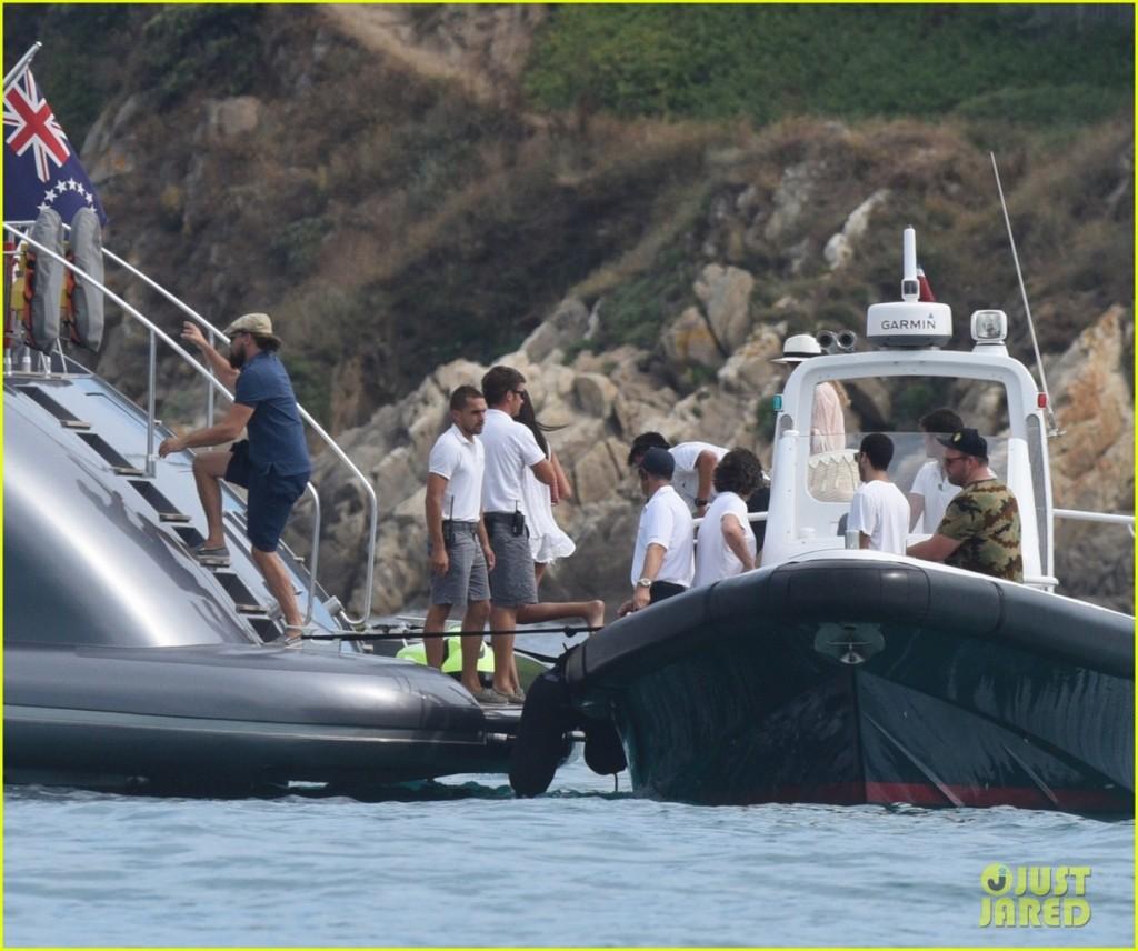 leo dicaprio rents superyacht j.f.f. in st tropez during leonardo dicaprio foundation gala