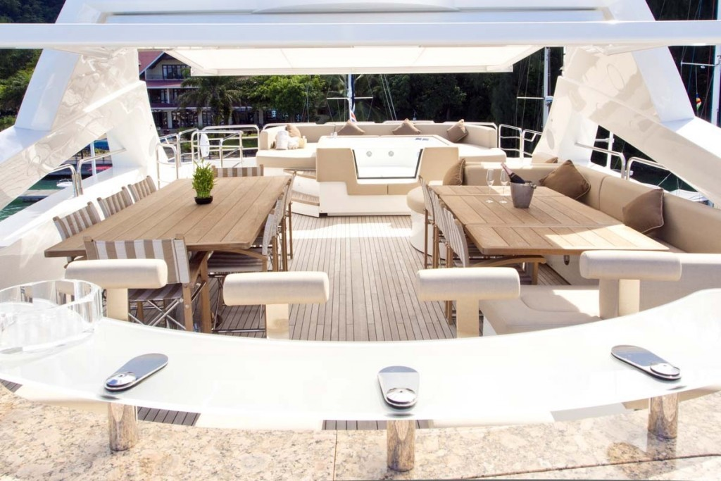 superyacht 'princess k' deck
