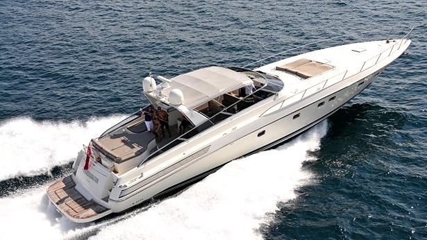 open yacht diversion rented by eddie irvine