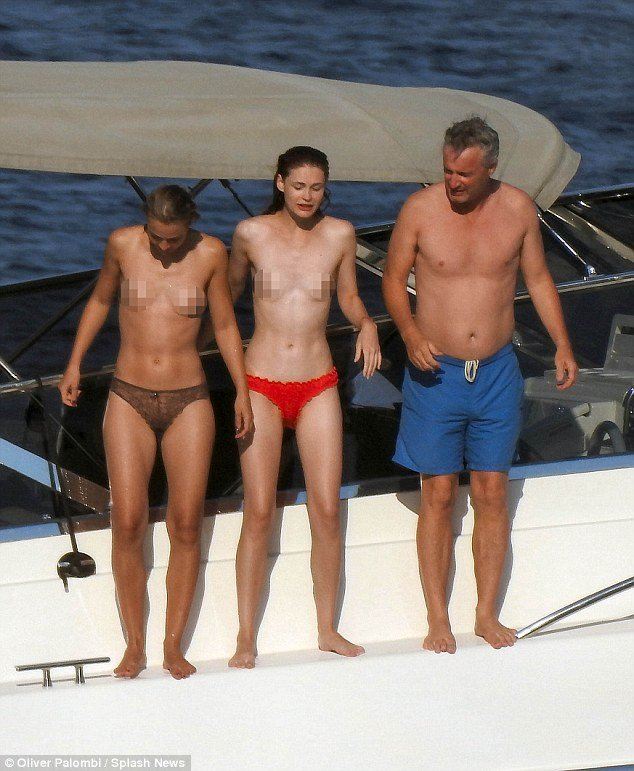 eddie irvine on yacht diversion with topless women in italy