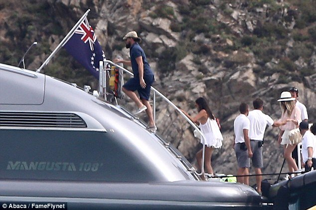 leo dicaprio rents superyacht j.f.f. in st tropez during leonardo dicaprio foundation gala