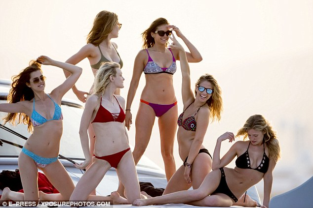 nian dobrev and friends on board rented superyacht L'Albatros in st tropez