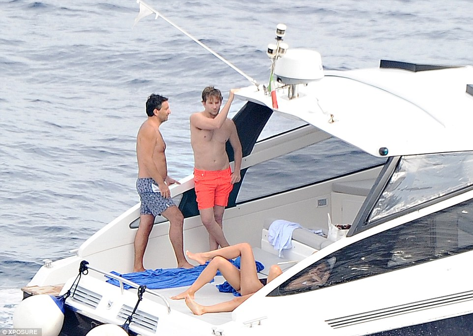 couple bradley cooper and irina shayk on baia 50 yacht in italy