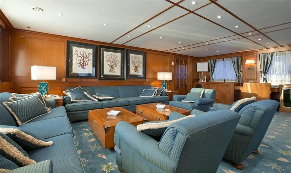 bono's superyacht 'kingdom come' salon