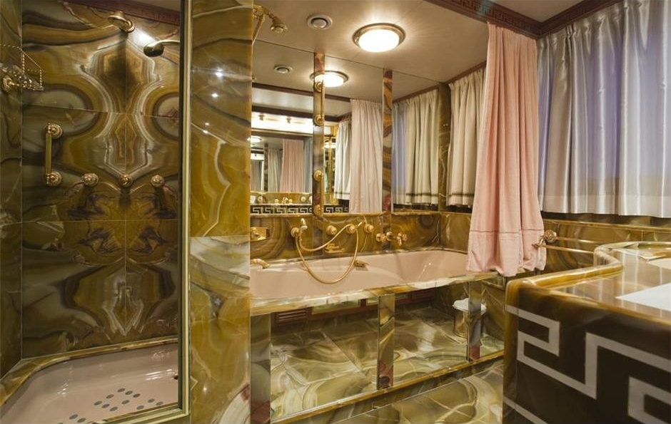 bono's superyacht 'kingdom come' bathroom