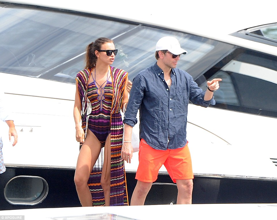 couple bradley cooper and irina shayk on yacht vacation in italy