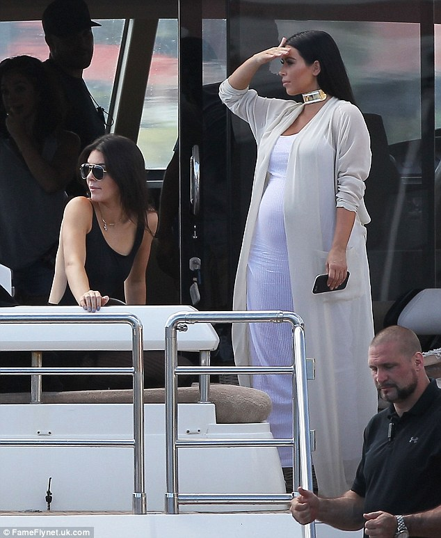 Kim and Kendall St Barts