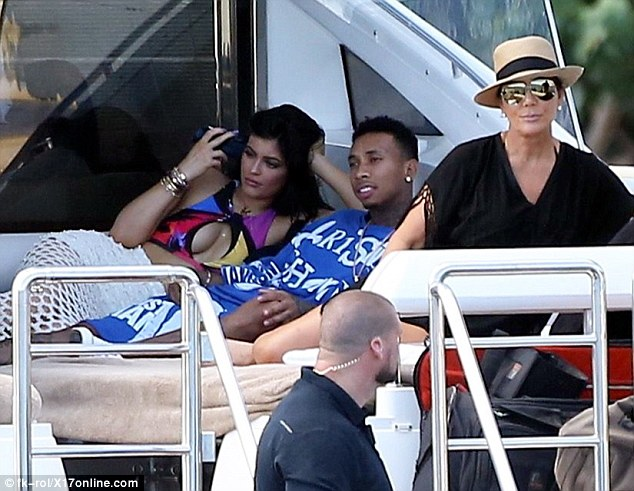 Kylie and Tyga and Kris St Barts