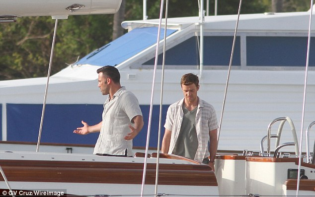 justin timberlake and ben affleck film runner runner on sailing yacht asolare in puerto rico