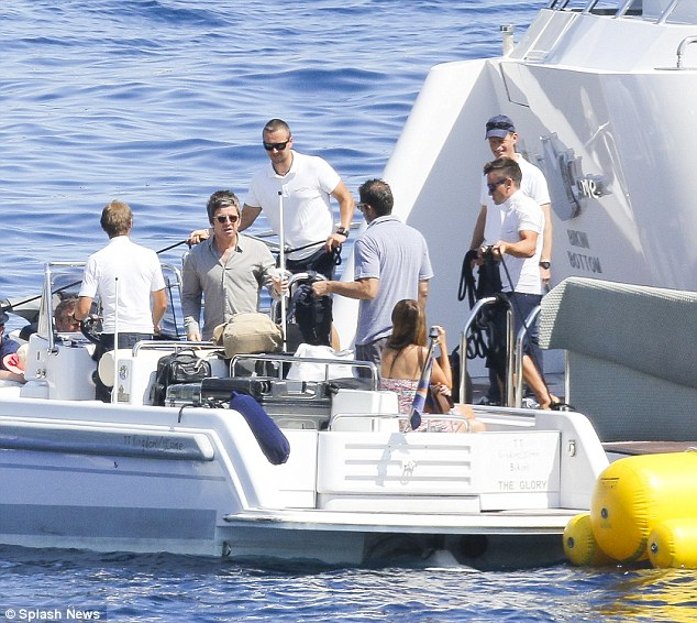 noel gallagher and wife sara macdonald get on board superyacht 'kingdom come'
