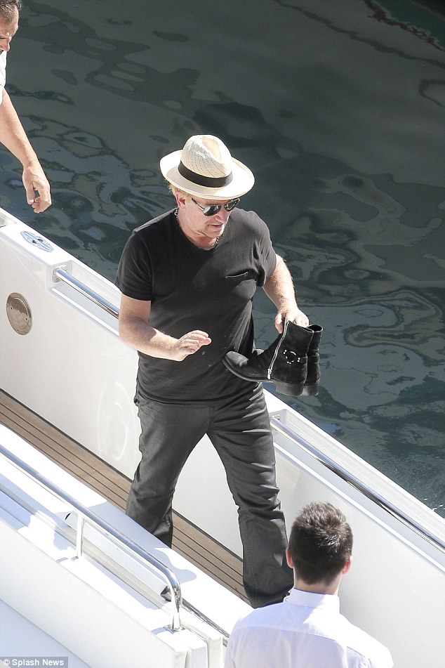 bono gets on his superyacht 'kingdom come'