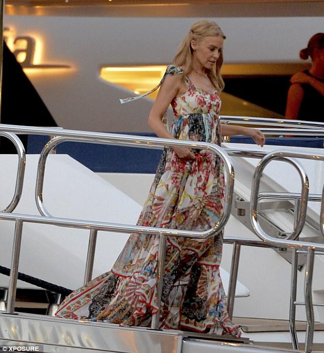 Kylie on D&G yacht 1