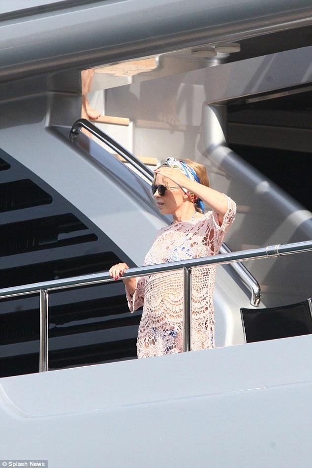 Kylie on D&G yacht 2