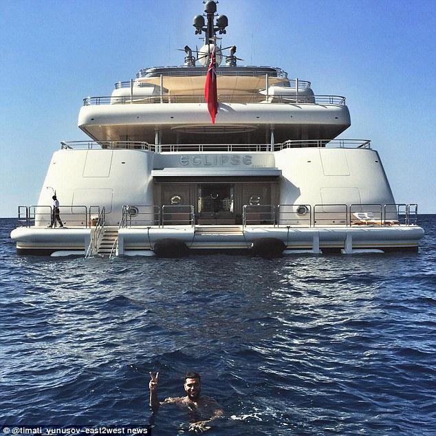 Rapper Timati borrows superyacht Eclipse   from billionaire Roman Abramovich