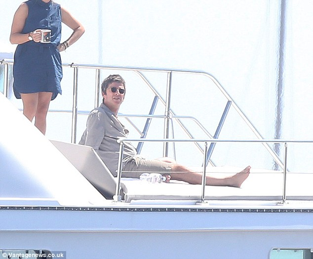 noel gallagher on bono's superyacht 'kingdom come' in st tropez